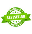 bestseller ribbon bestseller round green sign vector image vector image