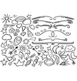 black line doodles and borders clipart vector image