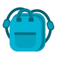 blue bag school pupil vector image