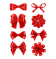 bow realistic ribbons for decoration hair bow vector image vector image