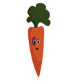 carrot with black eye on white background vector image vector image