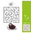 cartoon of education maze or vector image