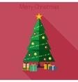 Christmas fir tree vector image vector image