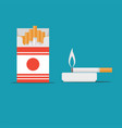 cigarette stock flat vector image vector image