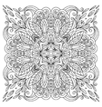 Coloring book square page for adults - floral vector image vector image