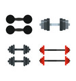 dumbbell icon set flat style vector image