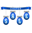 easter egg sale 3d banner set ribbon bow white vector image vector image