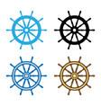 emblem of ship wheel vector image vector image