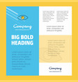 eye business company poster template with place vector image vector image