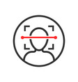 face scan icon in flat style facial id on white vector image
