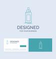 feeder bottle child baby milk business logo line vector image