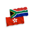 flags hong kong and republic south africa on vector image vector image
