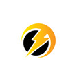 flazz electric logo vector image vector image