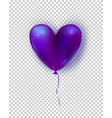 glossy air balloon in heart form purple vector image vector image