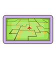 GPS navigation icon cartoon style vector image vector image