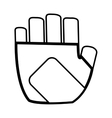 gym gloves icon vector image vector image