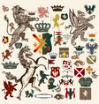 heraldic set design elements in vintage style vector image vector image