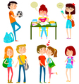 high school kids vector image