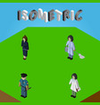 isometric person set of housemaid doctor officer vector image vector image