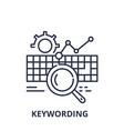 keywording line icon concept keywording vector image vector image
