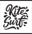 kitesurf lettering logo in graffiti style vector image vector image