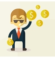 Money and man vector image vector image