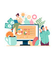 new fresh business project investment development vector image