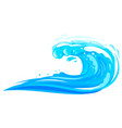 ocean wave isolated flat vector image vector image