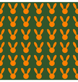 Orange Rabbit Green Background vector image