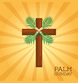 palm sunday cross card celebration christianity vector image vector image