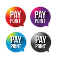 pay point sign label vector image vector image