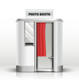 Photo booth cabin digital kiosk for passport vector image vector image