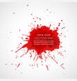red splatter ink drop effect vector image vector image