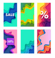 sales and discounts social media stories posts vector image