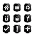 Security icons vector | Price: 1 Credit (USD $1)