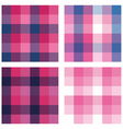 set geometric seamless patterns vector image