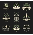 set hunting and fishing labels badges logos vector image