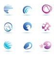 set of abstract globe icons logo templates