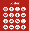 set of easter simple icons vector image vector image