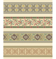 Set of four decorative borders ornamental vector image vector image