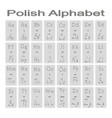 set of monochrome icons with polish alphabet vector image vector image
