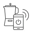 smart coffee jug icon outline style vector image vector image