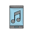 smartphone music online app message chat icon vector image