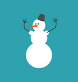 snowman isolated snow hero for new year christmas vector image