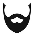 stylish beard icon simple style vector image vector image