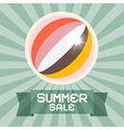 Summer Sale Retro Title with Ball vector image vector image