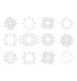 Sunburst vintage set vector image vector image