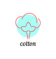 thin line cotton icon vector image vector image