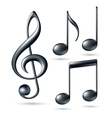 Treble clef with notes vector image