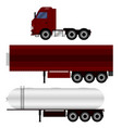 truck with trailer transporting liquid vector image vector image